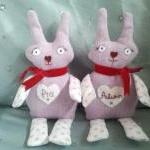 Baby Personalised Bunny teddy. Hand..